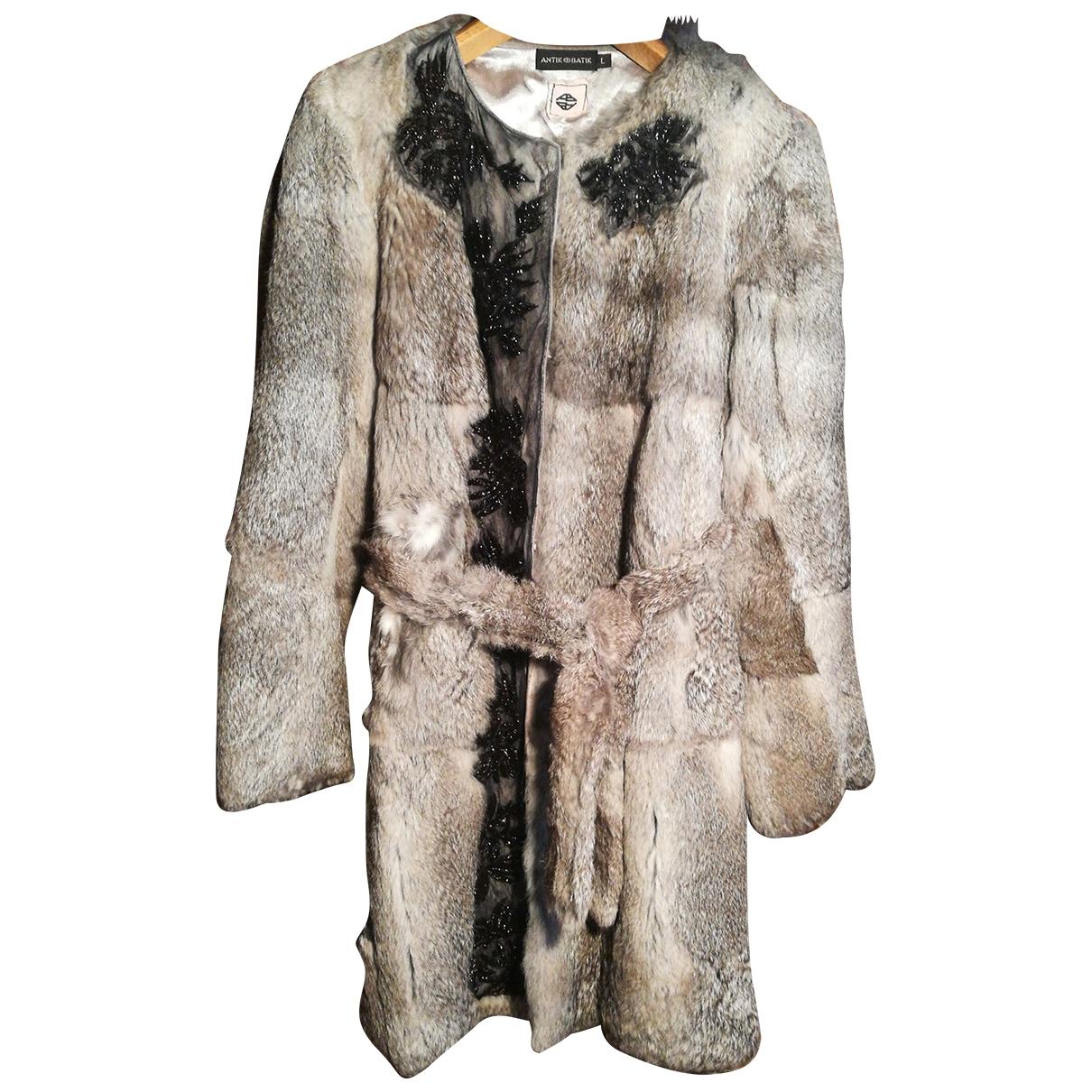 Antik Batik \N Grey Rabbit coat for Women 40 FR