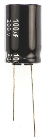 Panasonic 100μF Electrolytic Capacitor 200V dc, Through Hole - ECA2DHG101 (5)