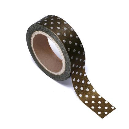 Washi Tape Gold avec des points 15mmX10m 1Pcs LivingBasics ™
