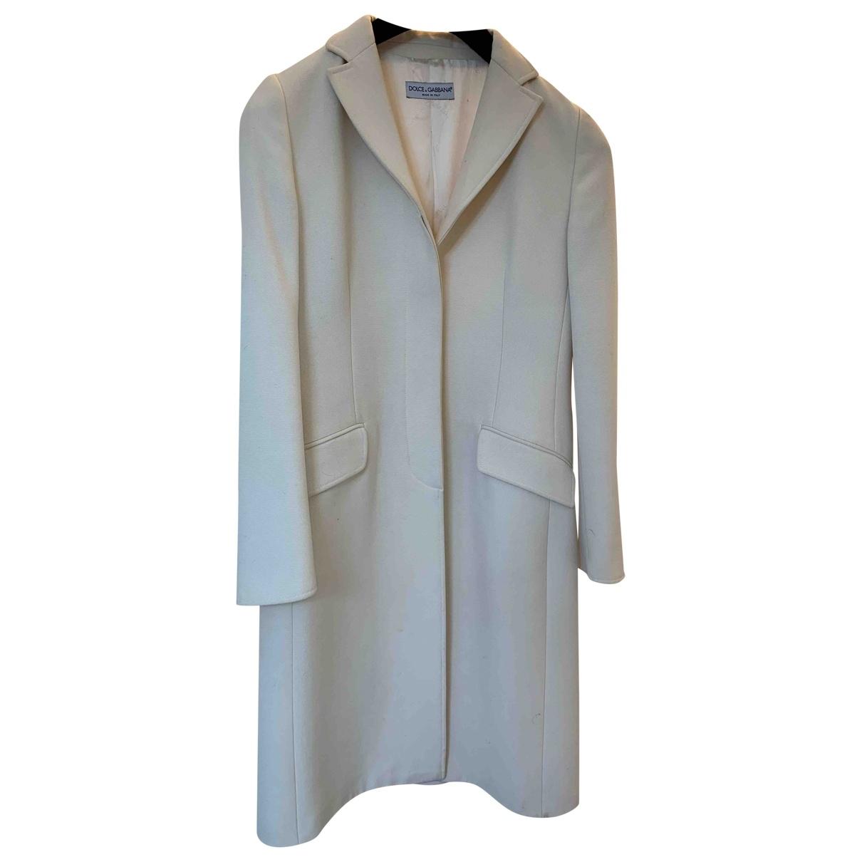 Dolce & Gabbana \N Beige Wool coat for Women 42 IT