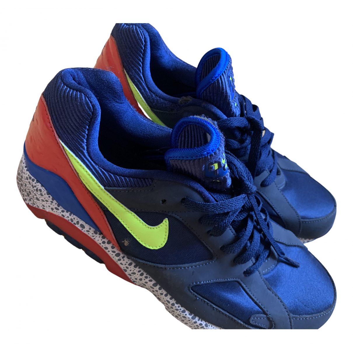 Nike Air Max 180  Blue Cloth Trainers for Men 42.5 IT