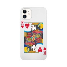 1pc Playing Card Pattern iPhone Case