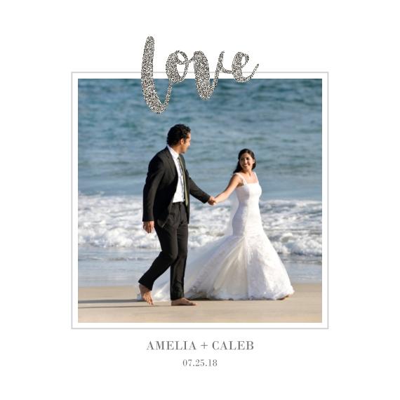 Wedding 12x12 Wood Panel, Home Décor -Love Glitter