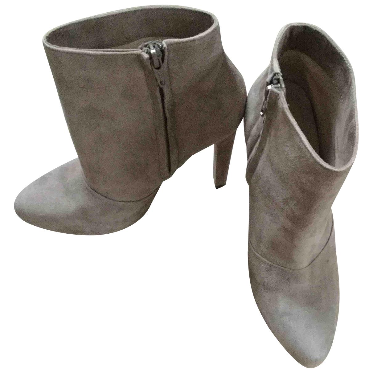 Zara - Boots   pour femme - beige