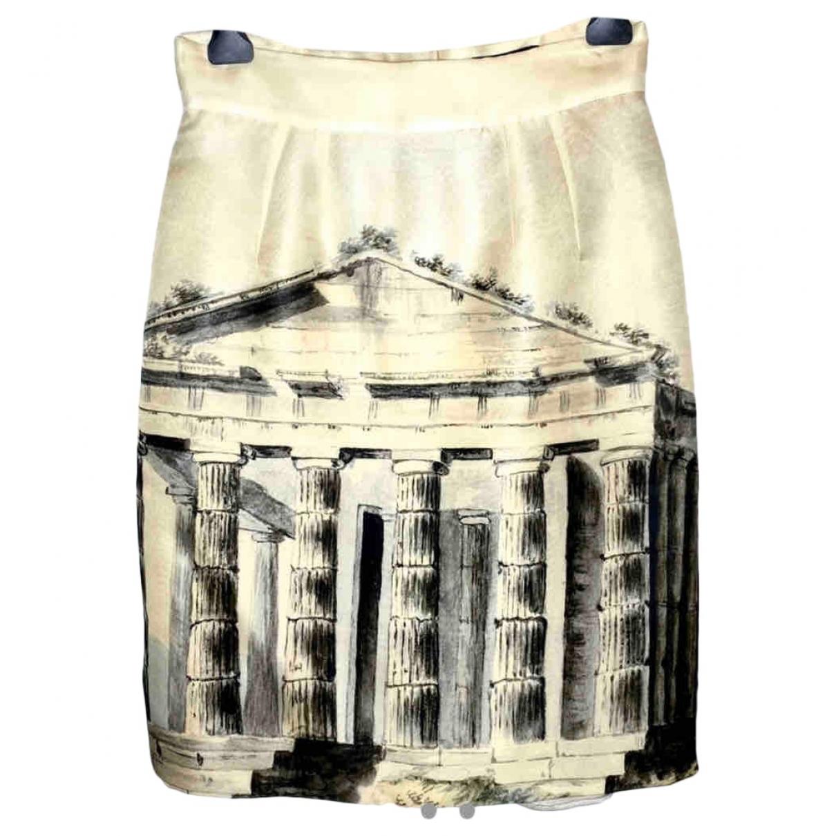 Dolce & Gabbana - Jupe   pour femme en soie - blanc