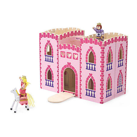 Melissa & Doug Fold & Go Princess Castle, One Size , Multiple Colors