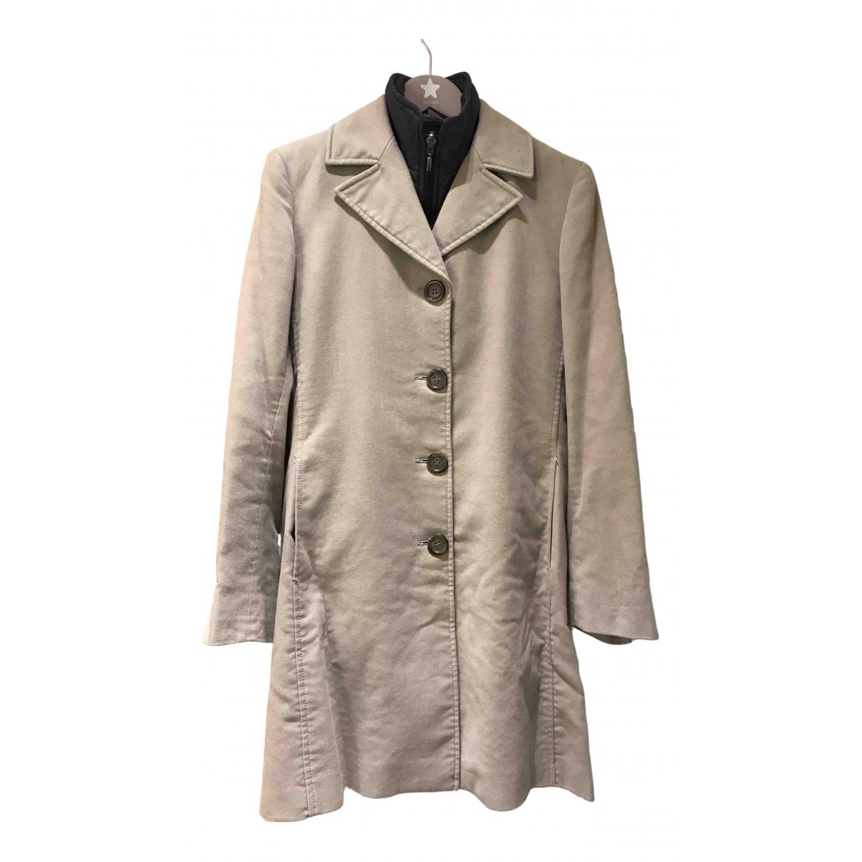 Marella - Manteau   pour femme en coton - beige