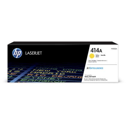 HP 414A Original Yellow LaserJet Toner Cartridge (W2022A), Standard Yield