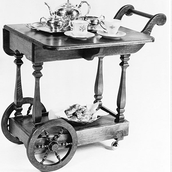 Woodworking Project Paper Plan to Build Tea Cart, Plan No. 708