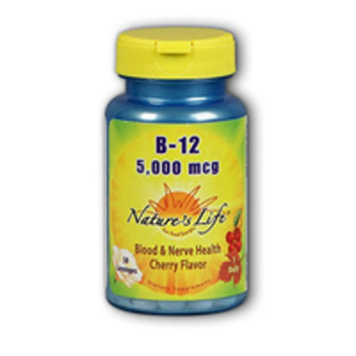 Vitamin B-12 Cherry 100 lozenges by Natures Life