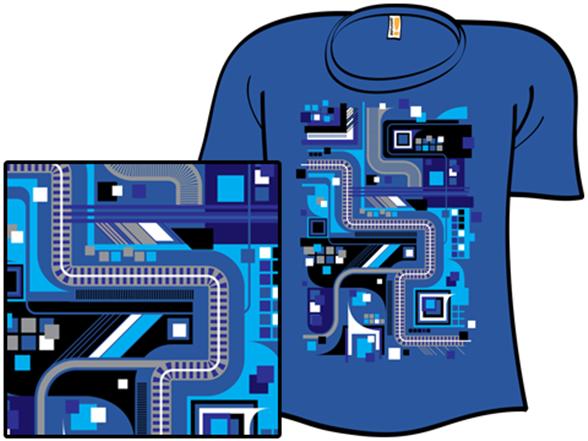 Vectors In Blue T Shirt