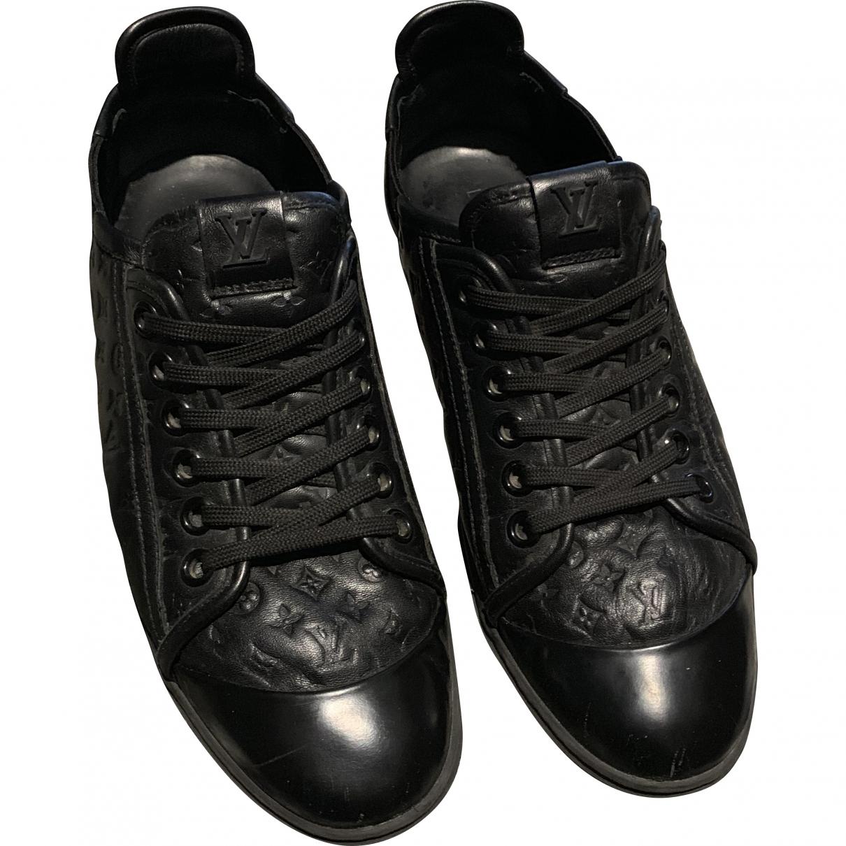 Louis Vuitton \N Black Leather Trainers for Women 39.5 EU