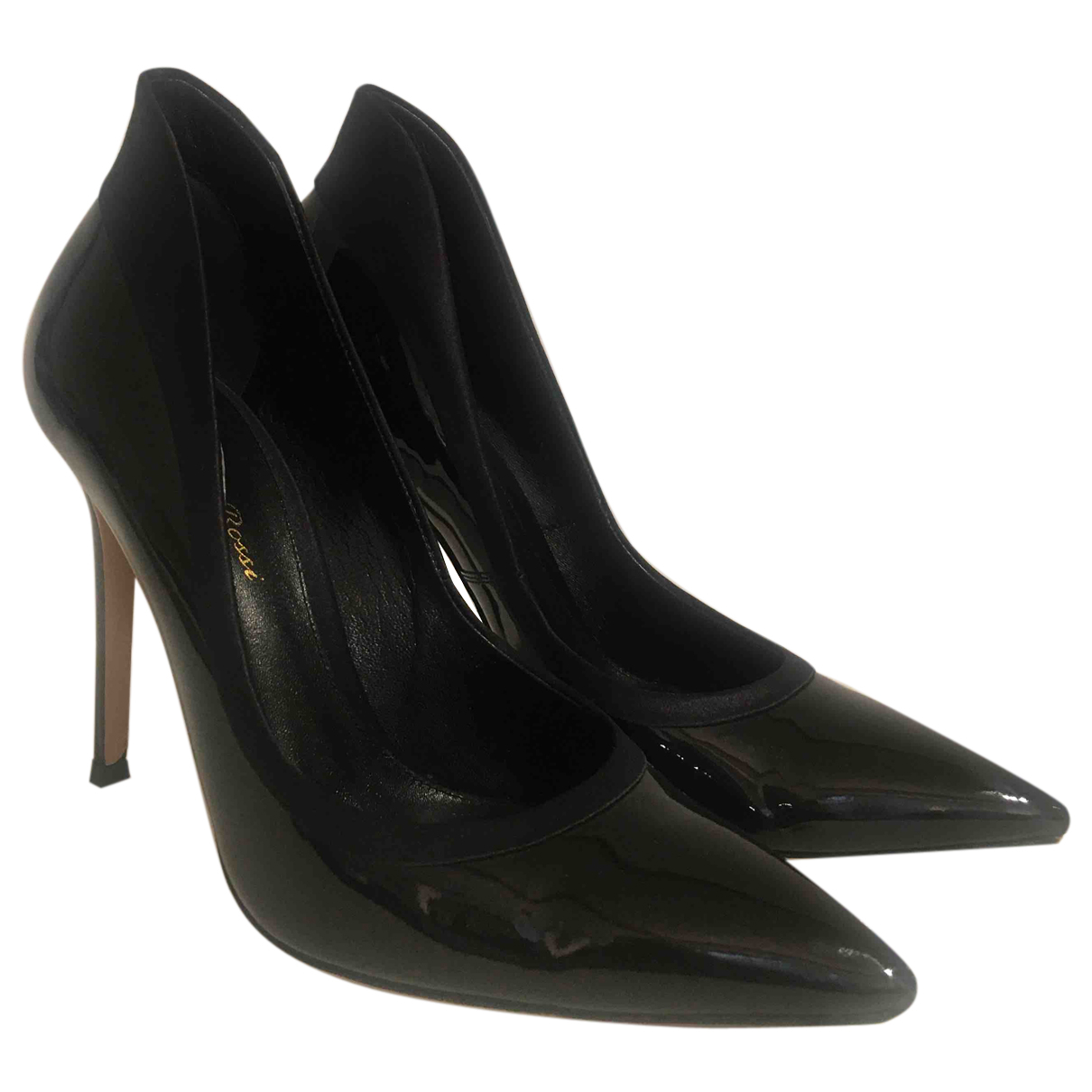 Gianvito Rossi N Black Patent leather Heels for Women 38 EU