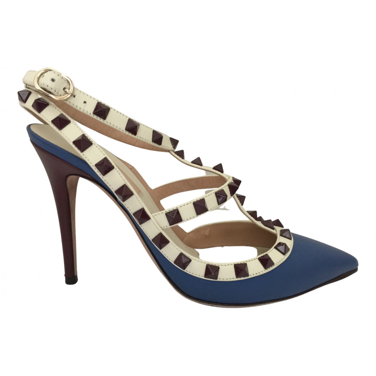 Valentino Garavani Rockstud Leather Heels for Women 37 IT