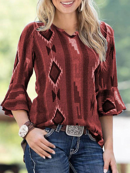 Milanoo Blouse For Women Green Jewel Neck Casual Plaid Long Sleeves Polyester Tops