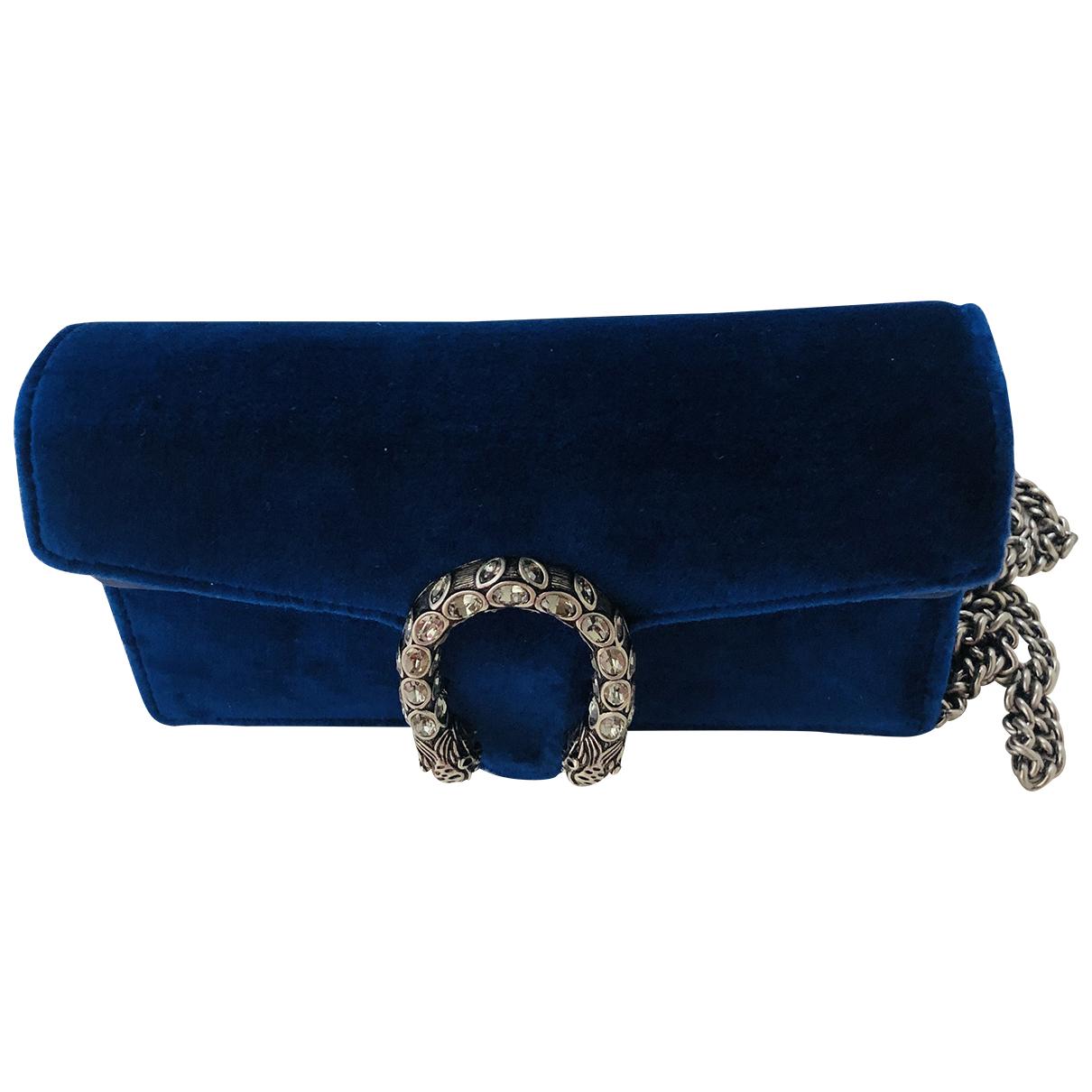 Gucci - Pochette Dionysus pour femme en velours - bleu