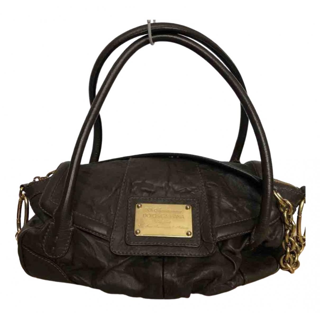 Dolce & Gabbana \N Handtasche in  Schwarz Leder