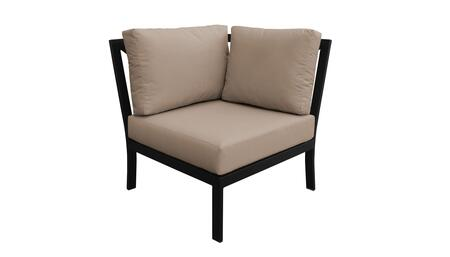 KI062b-CS-WHEAT Madison Ave. Corner Chair with 1 Set of Snow and 1 Set of Toffee
