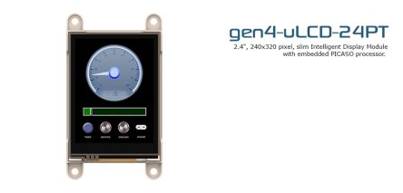 4D Systems gen4-uLCD-24PT-PI TFT LCD Display Module / Touch Screen, 240 x 320pixels