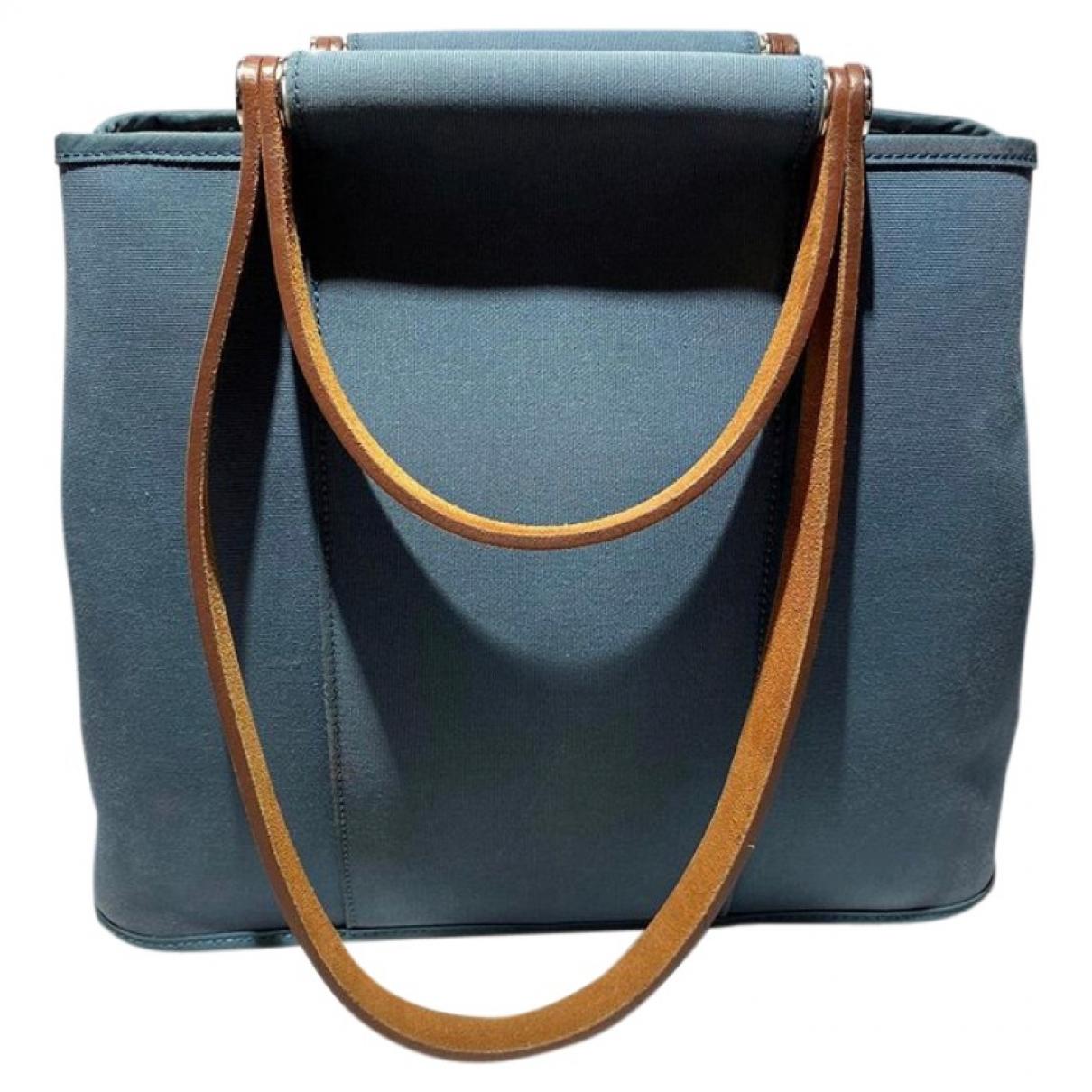 Hermès Cabag Blue Cloth handbag for Women \N