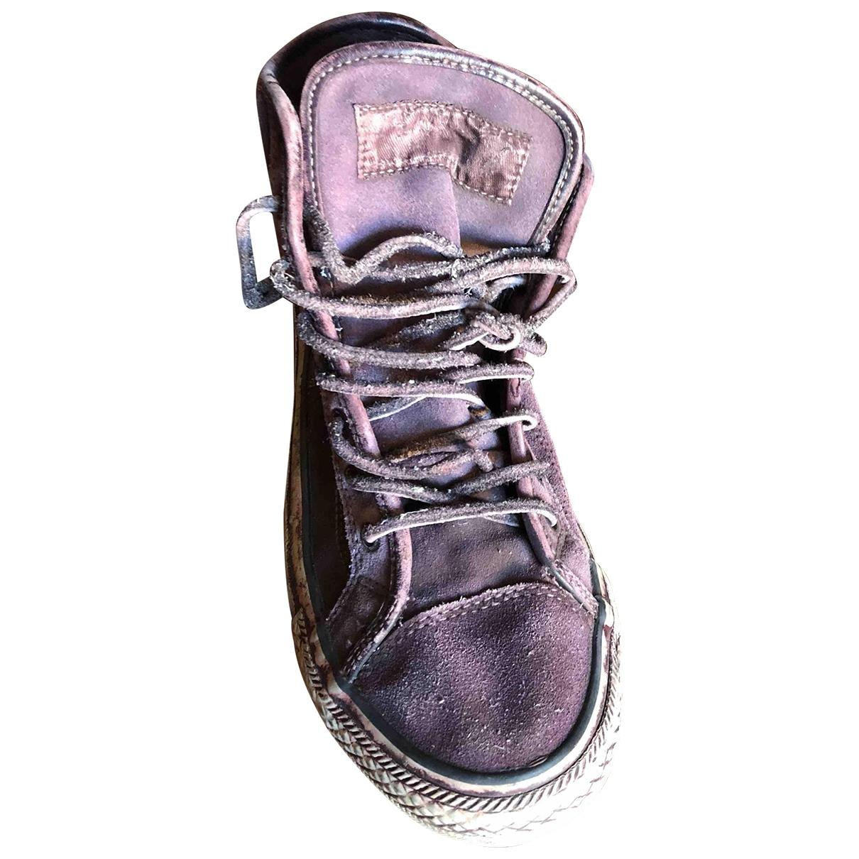 All Saints - Baskets   pour homme en suede - violet
