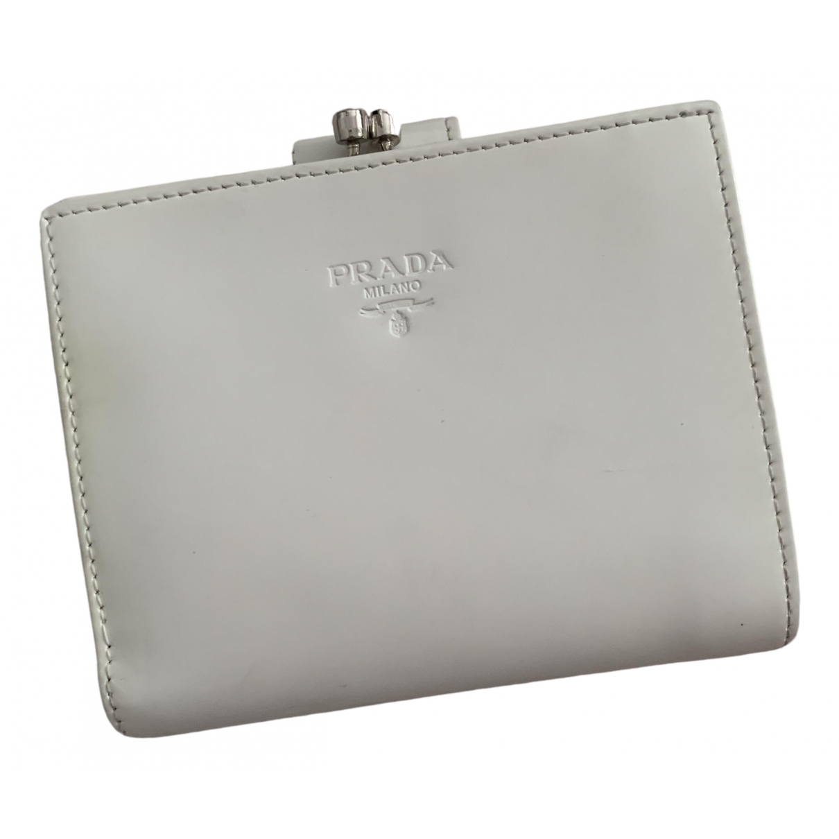 Prada \N White Patent leather wallet for Women \N