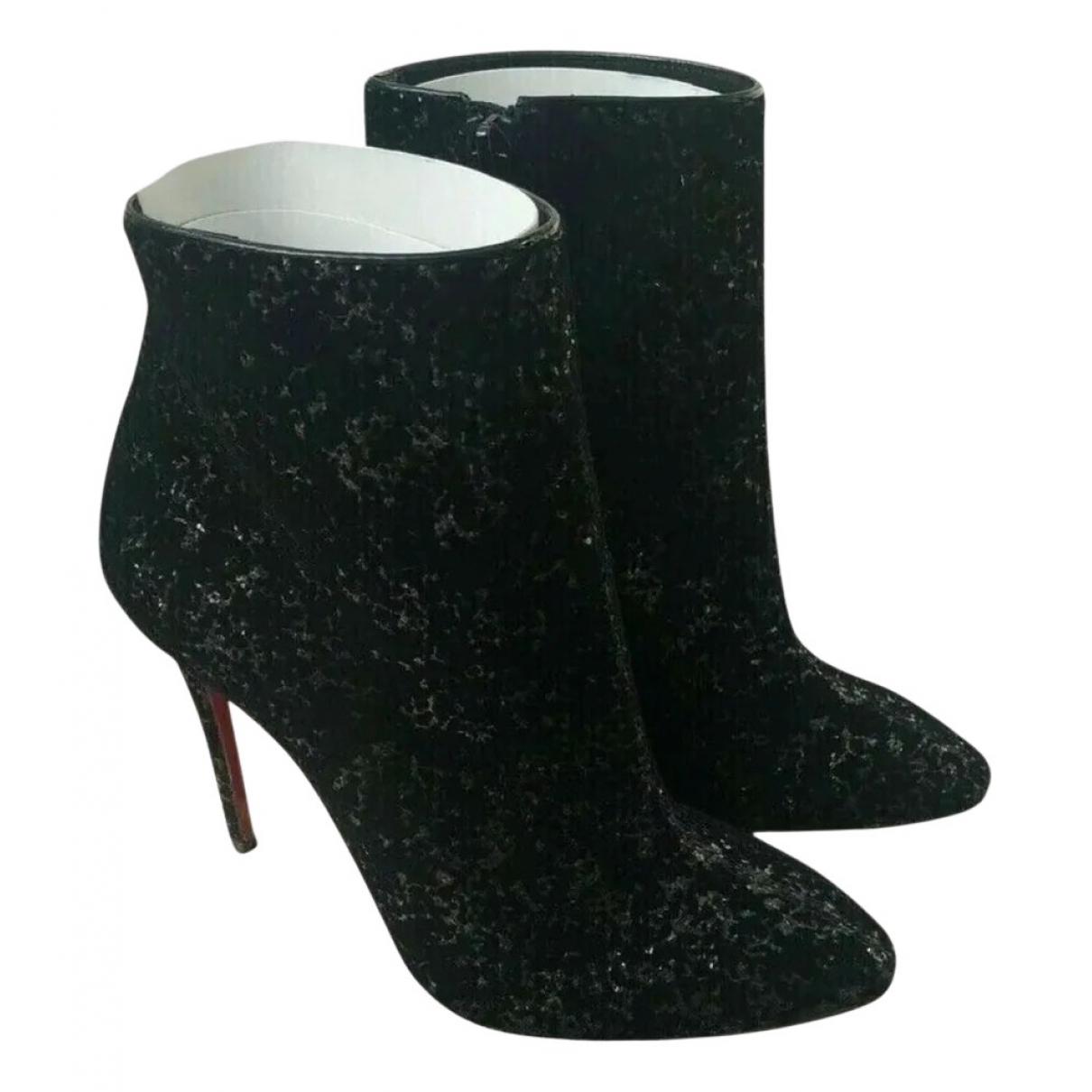 Christian Louboutin - Boots   pour femme en suede - noir