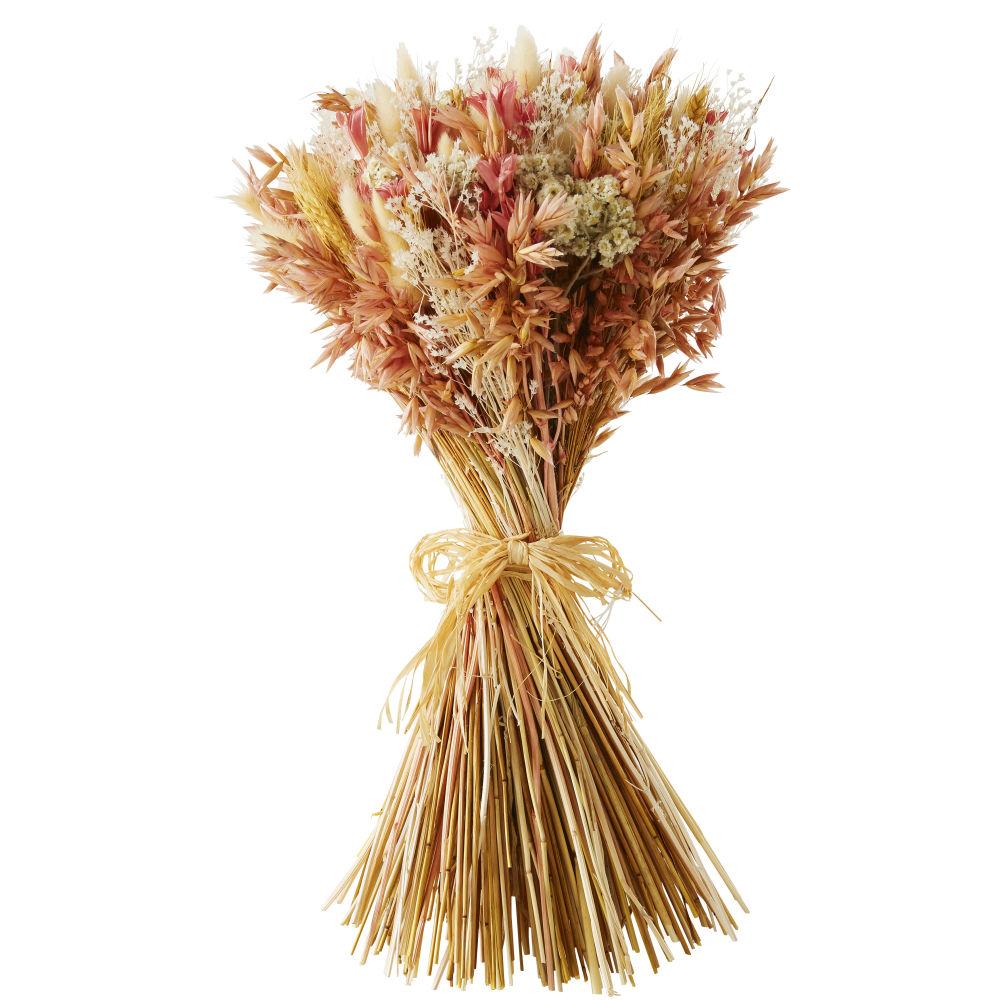 Trockenblumenstrauss, naturfarben und altrosa