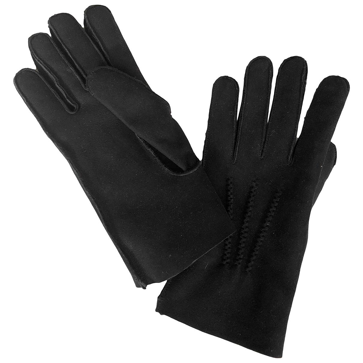 Apc \N Handschuhe in  Schwarz Mongolisches Lamm