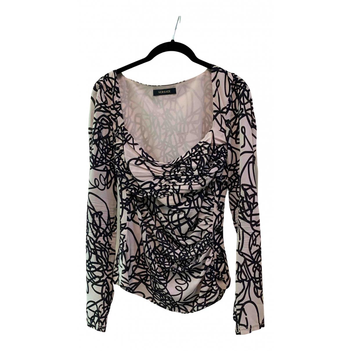 Versace \N Beige Silk  top for Women 44 IT