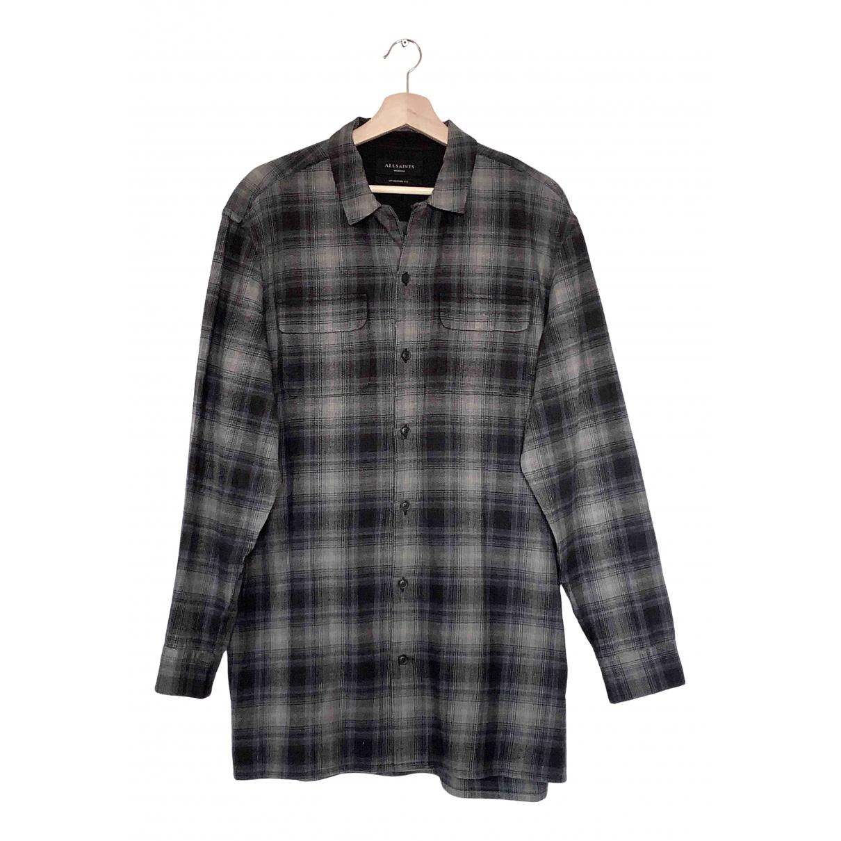 All Saints - Chemises   pour homme en coton - anthracite