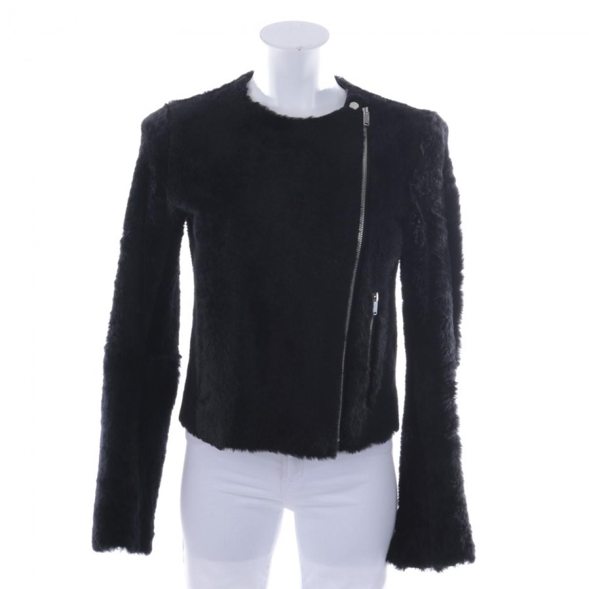 Celine - Veste   pour femme en mouton - noir