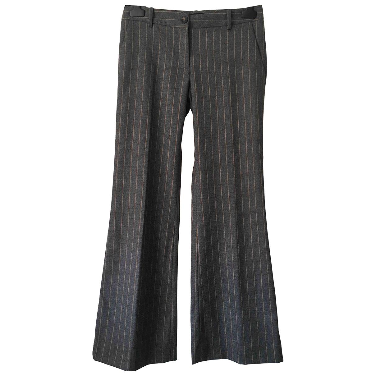 Flavio Castellani \N Grey Wool Trousers for Women 42 IT