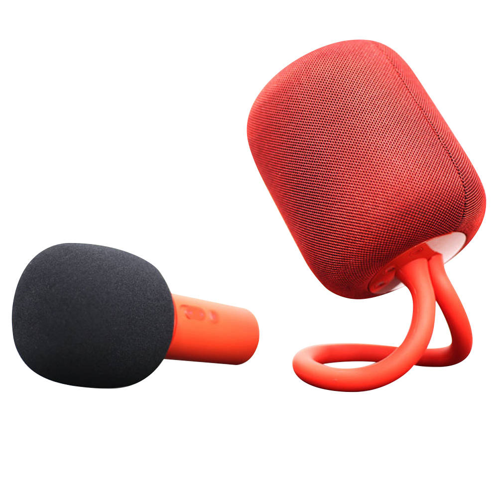 Xiaomi iK8 Karaoke HiFi Stereo Speaker + Microphone Set 3.5mm Audio Cable 5200mAh Battery - Red