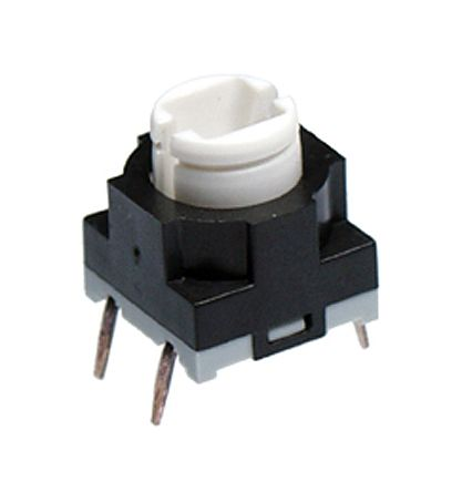 NKK Switches Extended Tactile Switch, Single Pole Single Throw (SPST) 125 mA 3.3mm PCB (5)