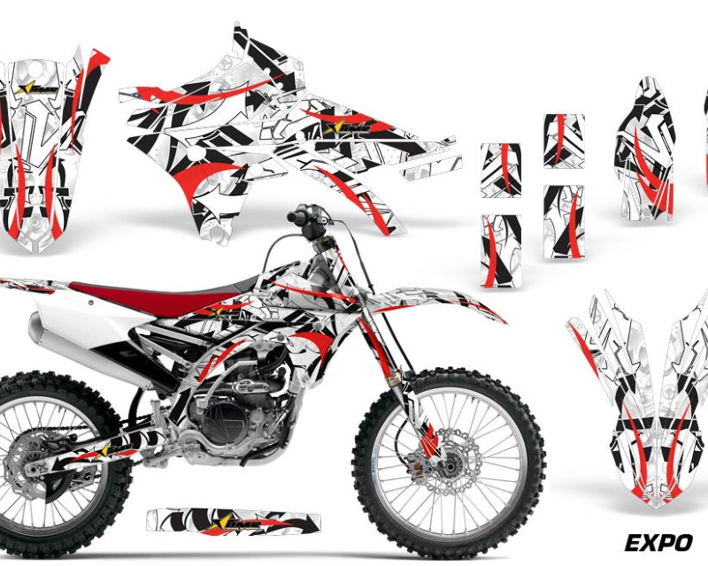 AMR Racing Dirt Bike Graphics Kit Decal Sticker Wrap For Yamaha YZ250F YZ450F 2014-2017áEXPO RED