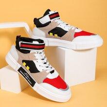 Maenner Sneakers mit Band vorn und Farbblock