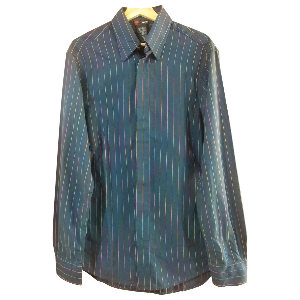 Versace \N Hemden in  Blau Baumwolle