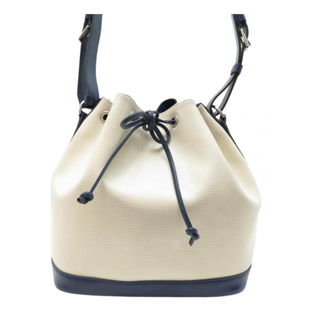Louis Vuitton - Sac a main Noe pour femme en cuir - blanc