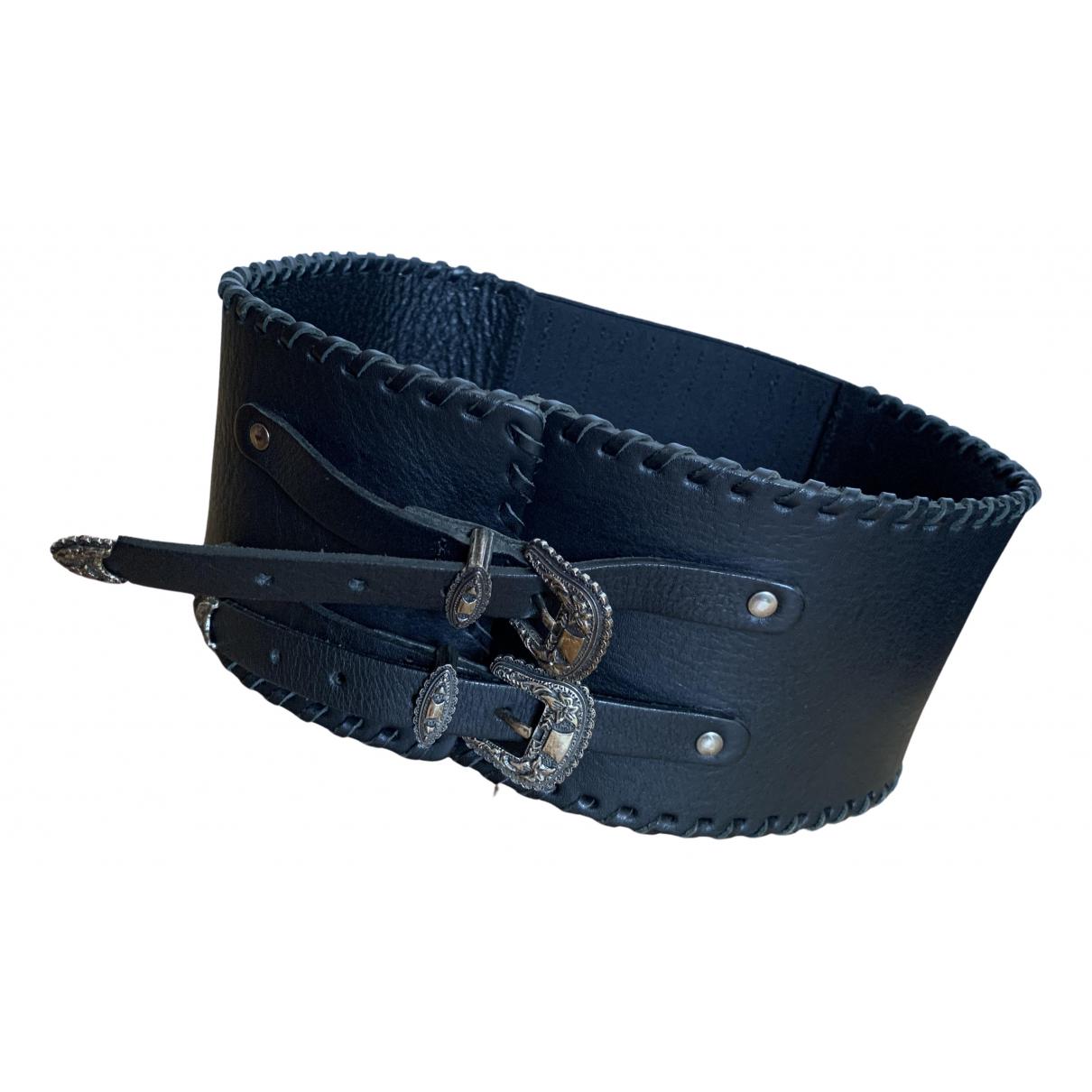 The Kooples \N Black Leather belt for Women S International
