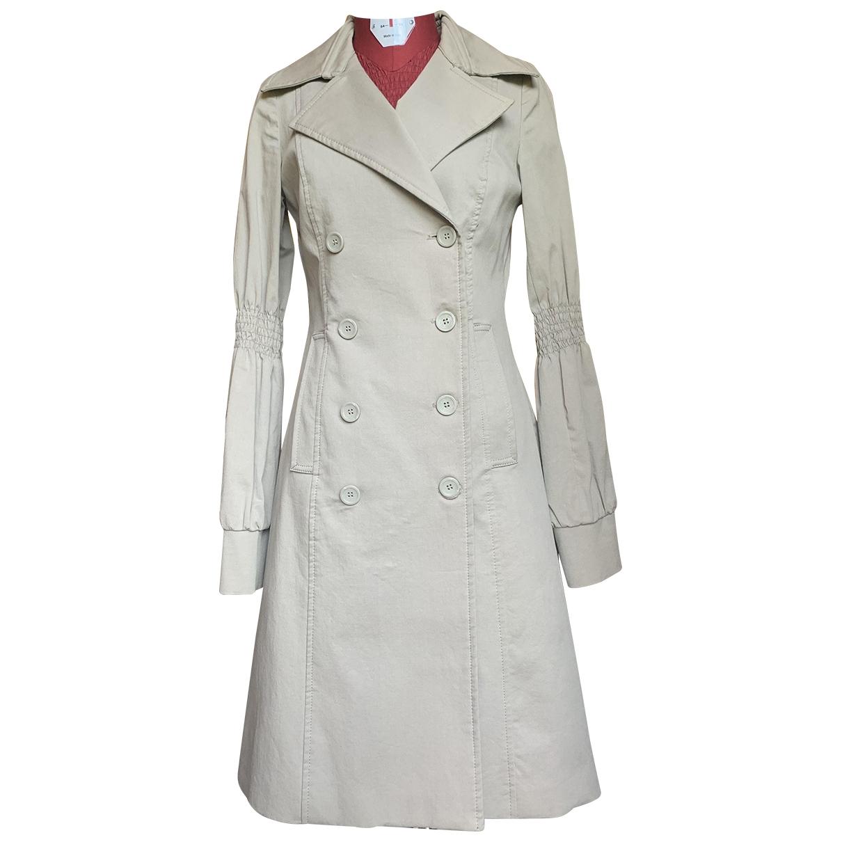 Mary Deep \N Beige Cotton coat for Women 44 IT