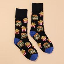 Maenner Socken mit Hamburger Muster