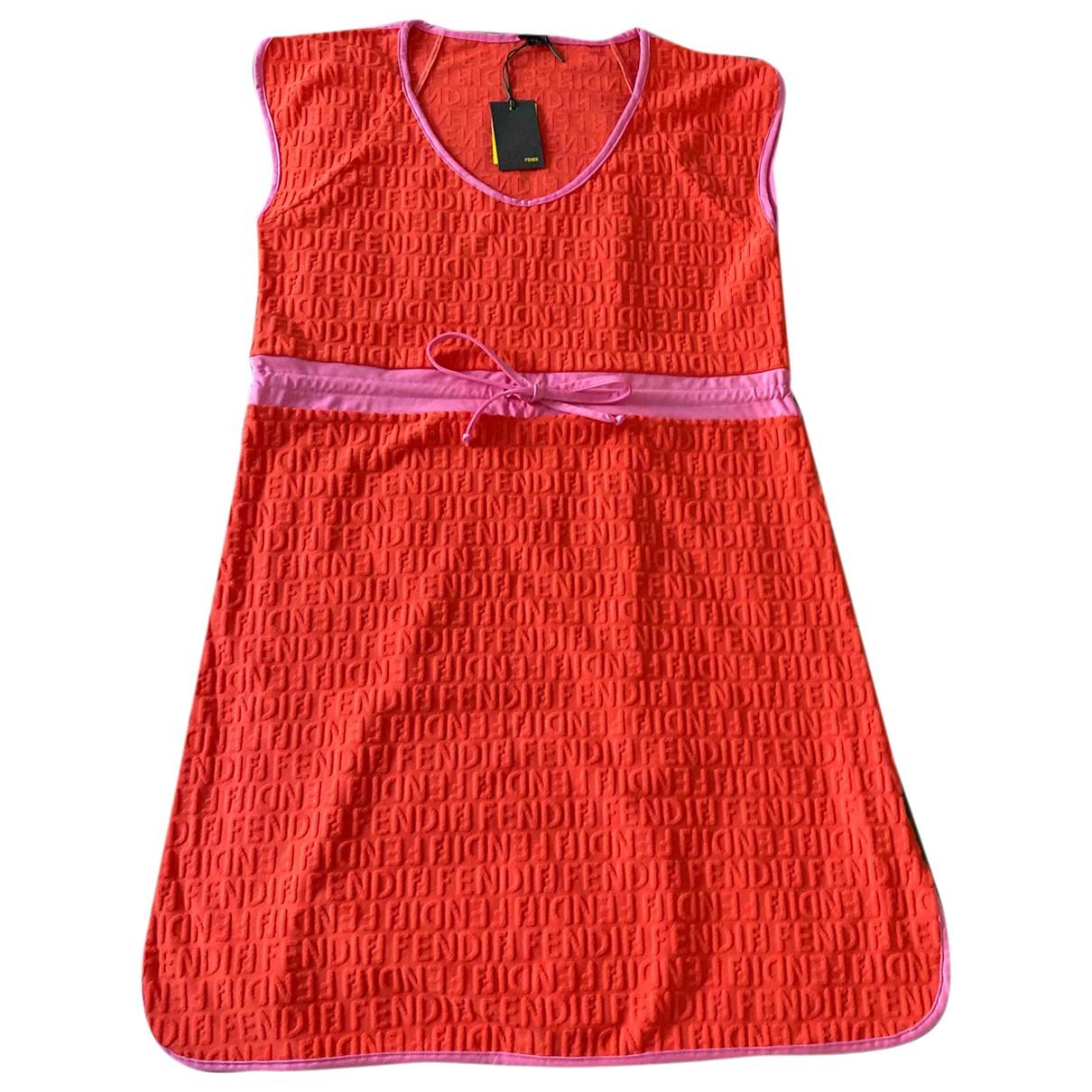 Fendi \N Kleid in  Orange Synthetik