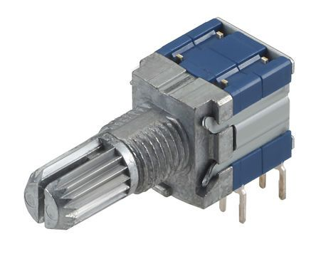 Alps Alpine , 3 Position DP3T Rotary Switch, 100 mA, PC Pin