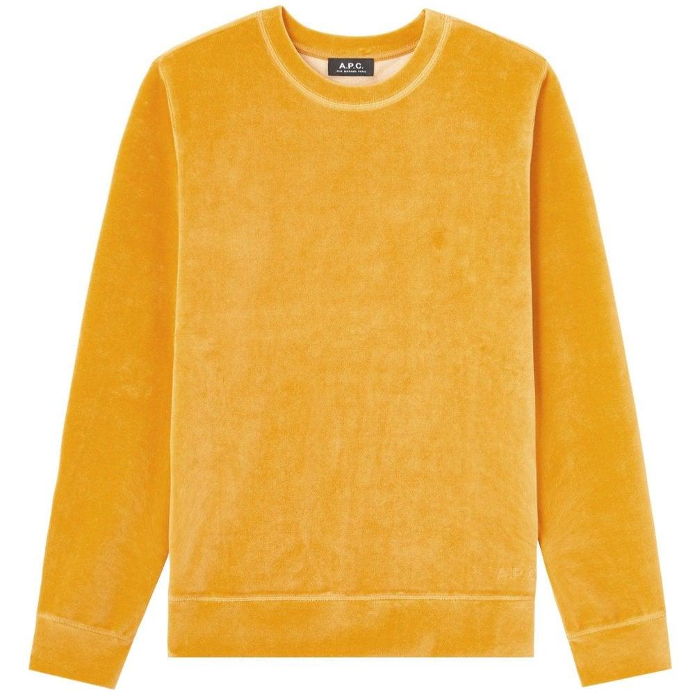 A.P.C Velvet Sweat Band Sweatshirt Colour: ORANGE, Size: SMALL