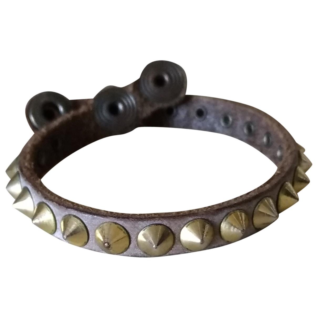 - Bracelet   pour femme en cuir - marron