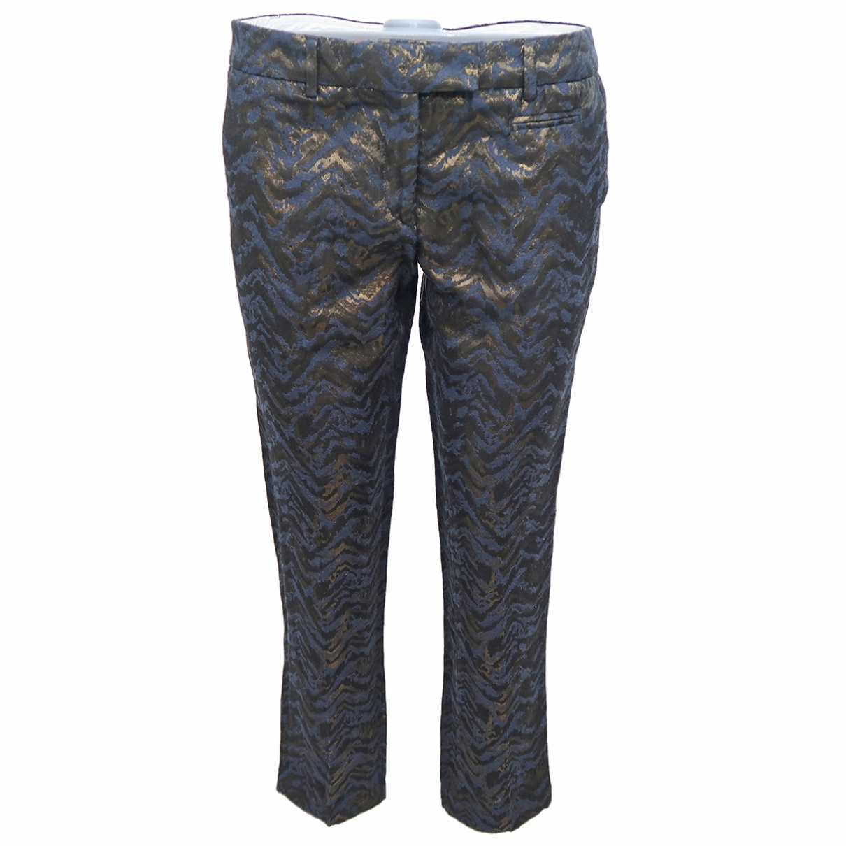 Non Signé / Unsigned \N Multicolour Cotton Trousers for Women 40 FR