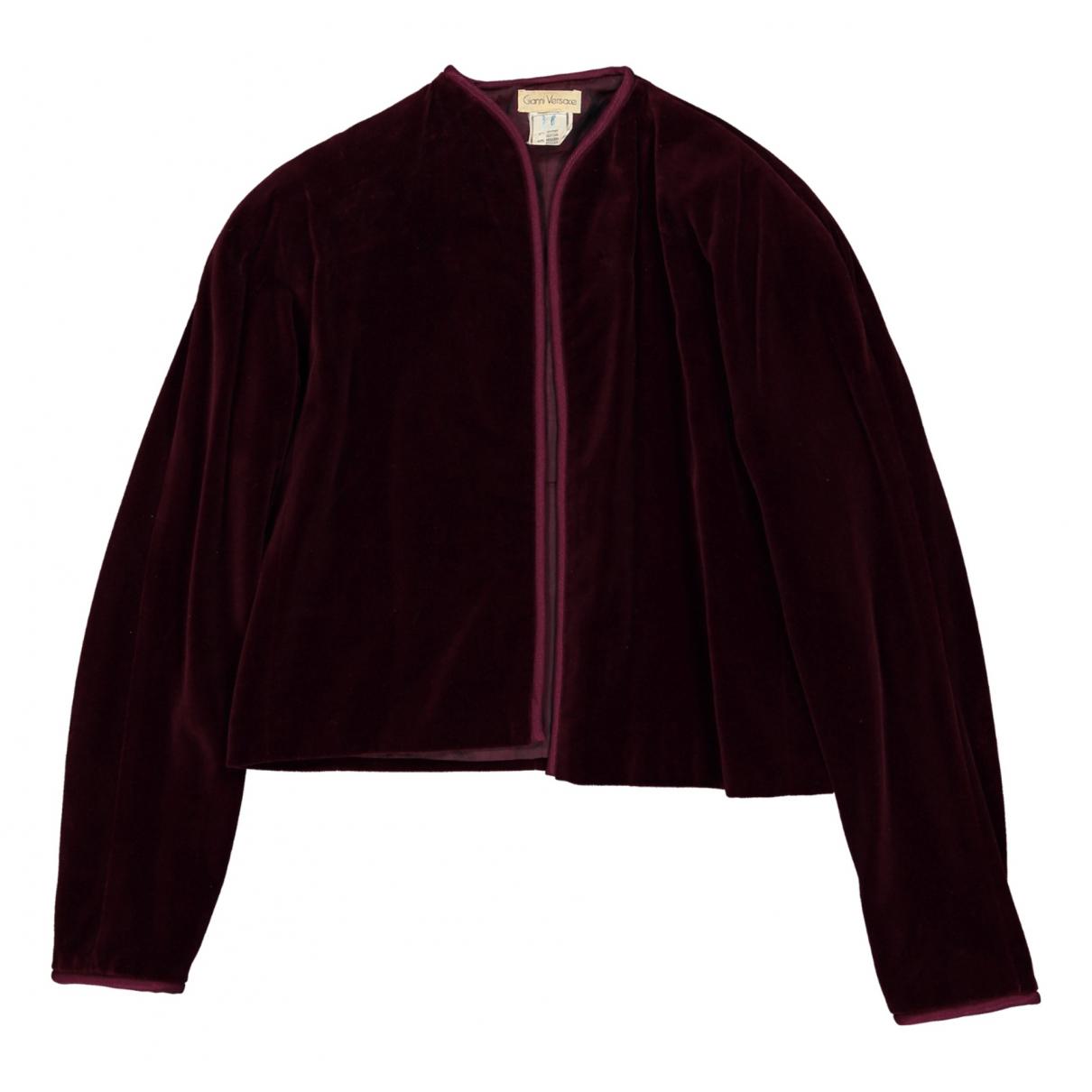 Gianni Versace - Veste   pour femme en velours - bordeaux