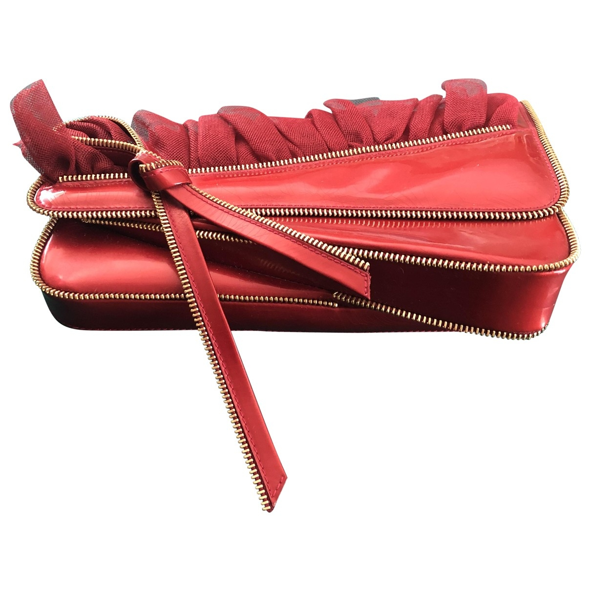 Dior \N Clutch in  Rot Lackleder