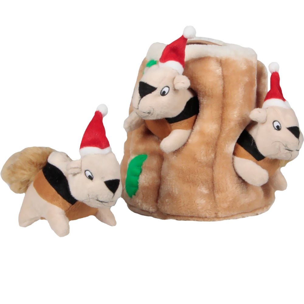 Outward Hound Holiday Hide-A-Squirrel - Large
